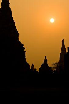 Free The Ancient Pagoda Of Ayutthaya, Thailand Royalty Free Stock Images - 18347949