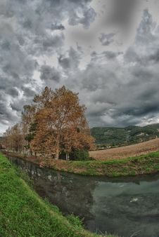 Autumn In Tuscan Countryside Royalty Free Stock Image
