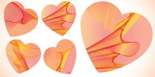 Free Valentines Abstract Hearts Stock Image - 18348141