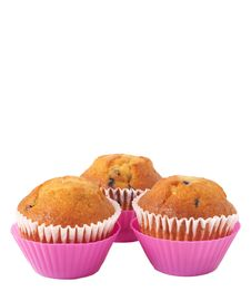 Free Blueberry Muffins On White Royalty Free Stock Images - 18348179