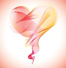 Free Valentines Background With Heart Stock Photography - 18348182
