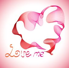 Free Valentines Background With Heart Stock Images - 18348184