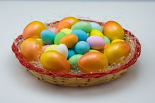 Free Colored Eggs Royalty Free Stock Image - 18348206