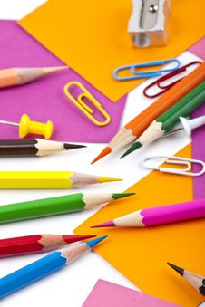 Free Office And Student Tool With Colorful Pencils Stock Image - 18348571