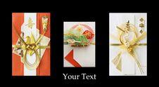 Free Three Japanese Festive Envelopes Royalty Free Stock Image - 18349036