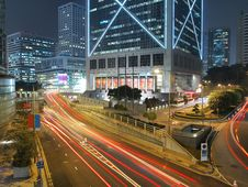 Free Amazing City Traffic At Night Stock Photo - 18349350