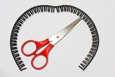 Scissors, Red Handle