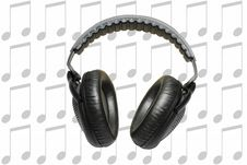 Free Headphones And Music Royalty Free Stock Photos - 18349958