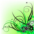 Free Green Floral Design Royalty Free Stock Photography - 18351717