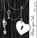 Free Several Keys And A Heart-shaped Lock Stock Image - 18352981