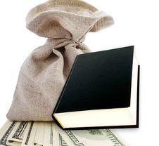 Free Black Book And Dollars. Stock Image - 18350521
