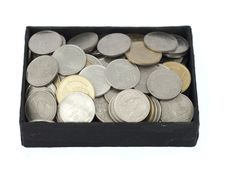 Free Coins Of Thailand In Box Stock Photos - 18350903