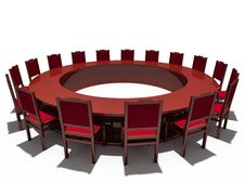 Free Table And Chairs Royalty Free Stock Photo - 18351205