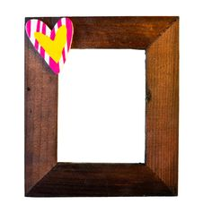 Free Wooden Frame With Heart Isolated Stock Images - 18351434