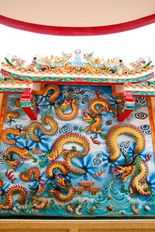 Free Chinese Dragon In Shrine Stock Photography - 18352252