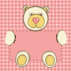 Free Bear For Baby Girl Stock Images - 18352294