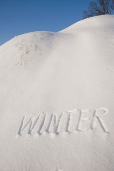 Free Winter Word On Snow Stock Photography - 18352302