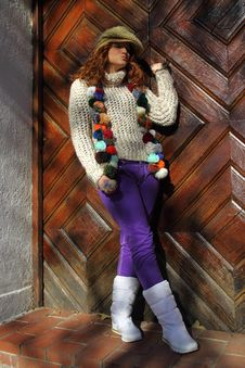 Free Cute Redhead Teenager Posing Stock Images - 18352364