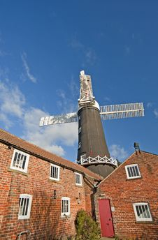 Windmill At A Granary Royalty Free Stock Photography