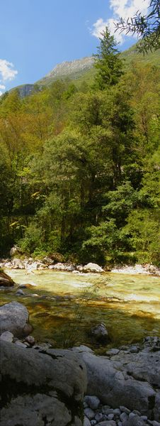Free Alpine River Panorama Stock Photo - 18352550