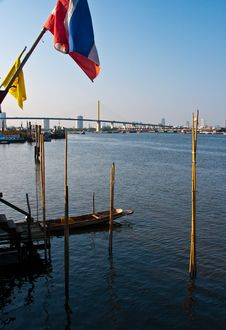 Free Small Pier On The Chao Phraya River Stock Photos - 18352613