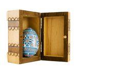 Easter Egg In Box Stock Photo