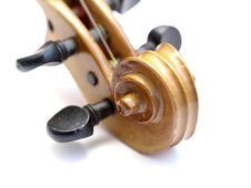 Violin Scroll Stock Photography