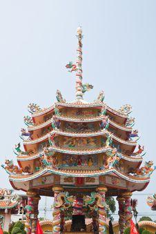 Part Of Beautyful Chinese Shrine Stock Image