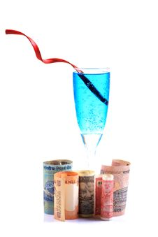 Free Money And Drink Royalty Free Stock Photo - 18353005