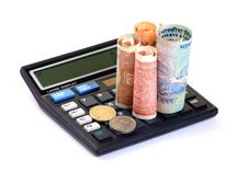 Free Calculating Savings Royalty Free Stock Image - 18353686