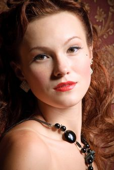 Free Portrait Of Vintage Girl Royalty Free Stock Image - 18353806