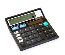 Free Dual Power Digital Calculator Stock Image - 18353891