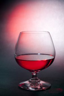 Free Luxury Red Liqueur On Balloon Crysal Glass Royalty Free Stock Photos - 18354608