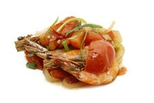 Free Prawn With Tomato Sauce Stock Images - 18355364