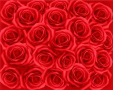 Free Background With Red Roses. Vector. Royalty Free Stock Photography - 18355637
