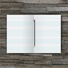 Free Notebook With Pencil Royalty Free Stock Image - 18355786