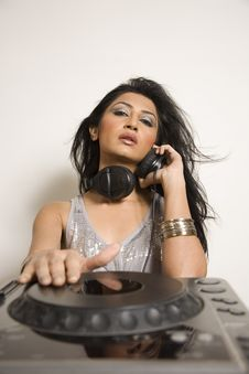 Free Female Dj Stock Photo - 18355800