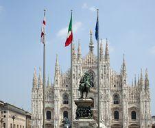Free Piazza Duomo, Milan Stock Photography - 18356762