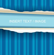 Free Ripped Paper Blue Version Stock Images - 18356994