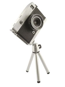 Free Vintage Camera On Tripod Stock Image - 18357031