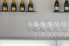 Free Champagne Glasses Royalty Free Stock Photography - 18357397