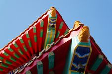 Free The Roof Of Chinese Temple Royalty Free Stock Photography - 18357677