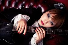Free Gothic Guitar Queen Stock Image - 18358161