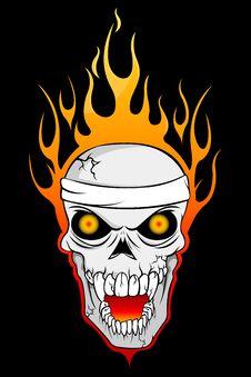Free Burning Skull Stock Photos - 18358533