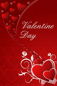 Free Abstract Valentine Card Royalty Free Stock Photography - 18358547