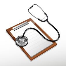 Free Stethoscope With Letterpad Stock Photography - 18358592