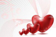 Free Loving Hearts Royalty Free Stock Photo - 18358595