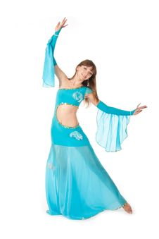 Free Belly Dancer In A Blue Royalty Free Stock Photography - 18358747