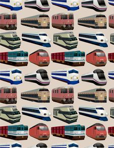Free Seamless Train Pattern Royalty Free Stock Photography - 18358837