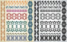 Free Art Nouveau Pattern Collection Royalty Free Stock Images - 18359059